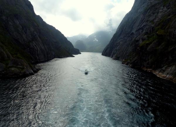 Im Trollfjord in Norwegen Fotosammlungen der besonderen Art