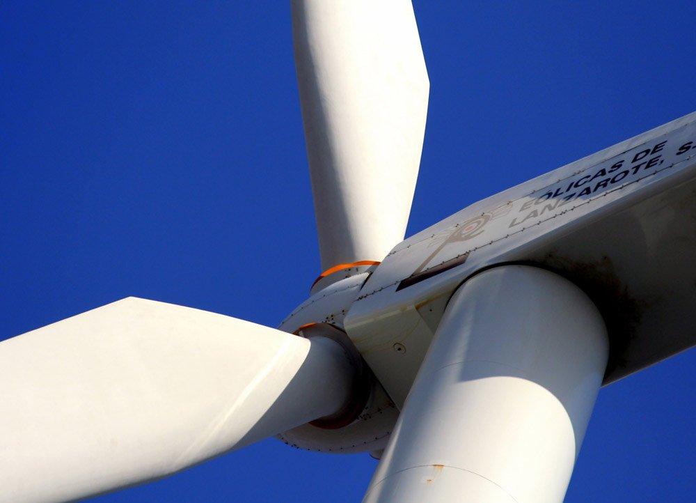 Windrad Windenergie Lanzarote fotosammlung